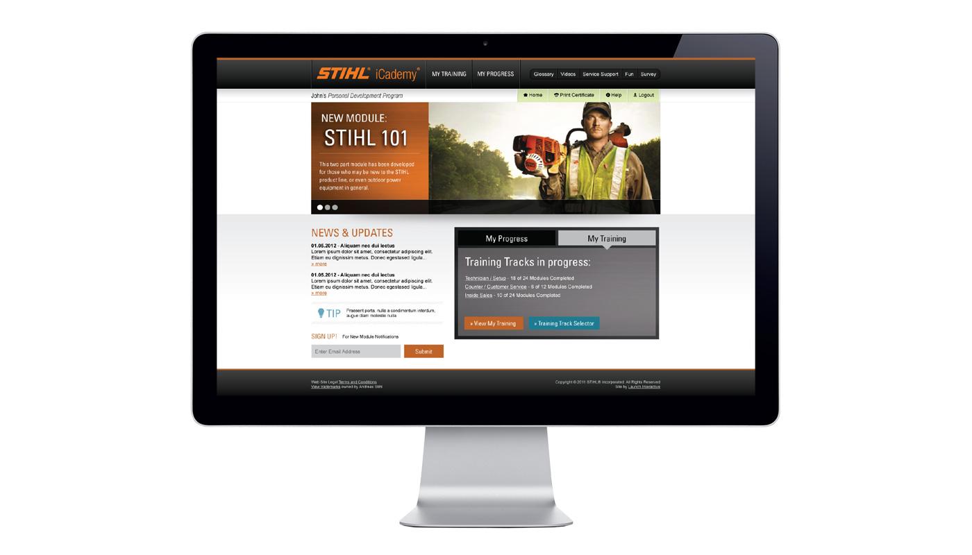 STIHL iCademy Website
